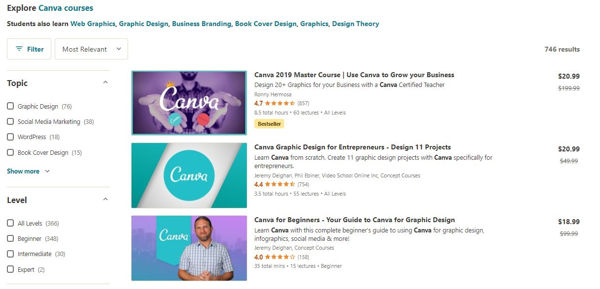 Canva Courses on Udemy