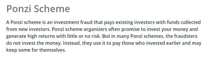 Definition of Ponzi Scheme