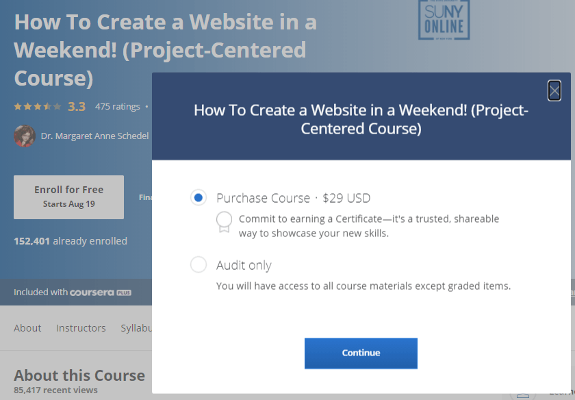 Audit Only Courses on Coursera