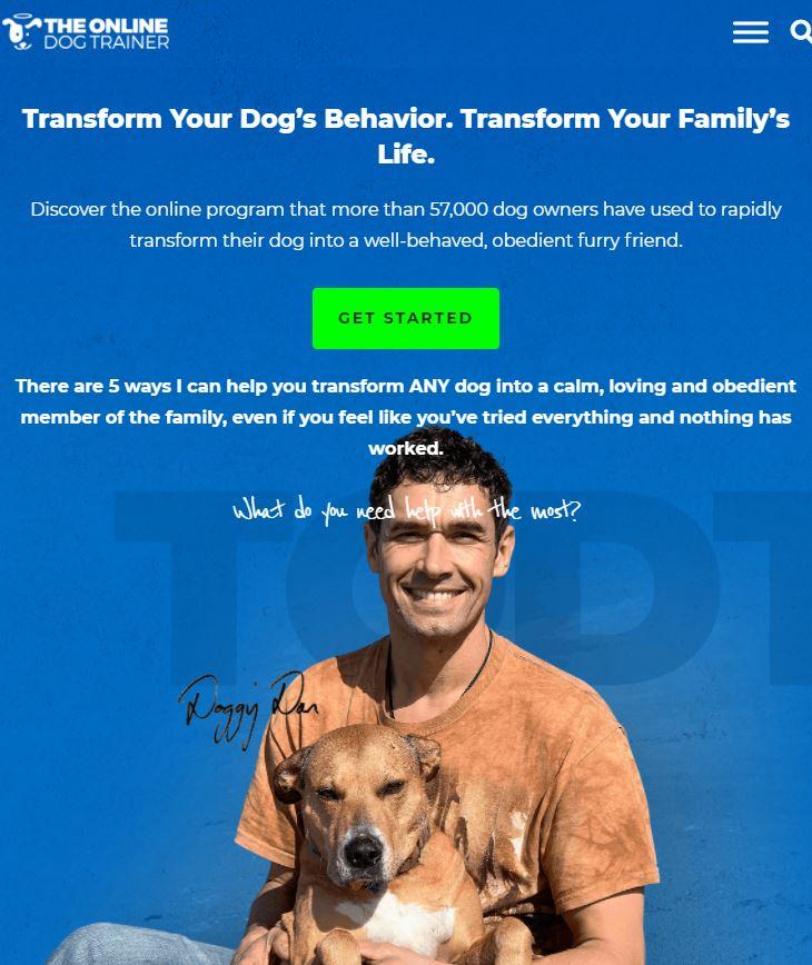 The Online Dog Trainer Official Website