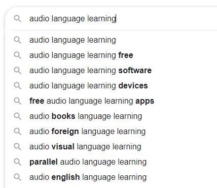 Audio Language Learning Keywords