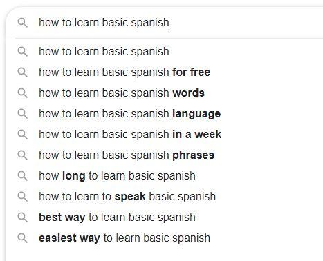 How to Learn Basic Spanish Keywords